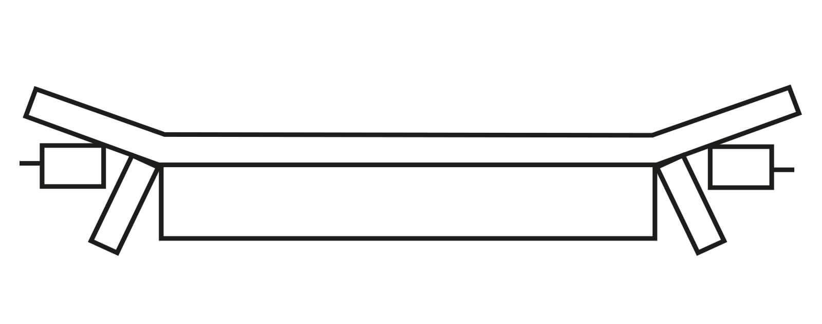 Schéma d'une bande caoutchouc non raide en trame de type EP pour bande transporteuse